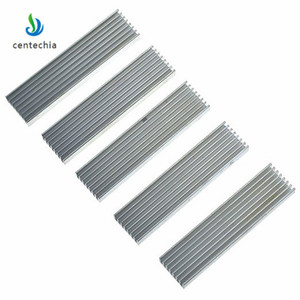 Image 5 - Durable Silver Aluminium Radiating Fin Cooling Heatsink 100*25*10MM for LED Power Transistor Electrical Radiator Chip
