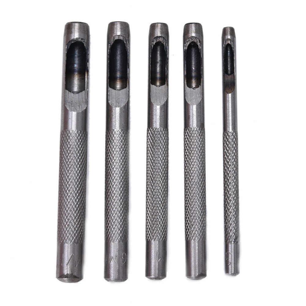 Outil de bricolage joint de ceinture trou de poinçonnage en cuir de haute qualité nouveau utile 1/5 Pcs joint de ceinture en cuir creux trou poinçon/Cutter outil