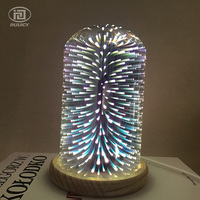 Modern Simple 3D Plated Colourfull Glass Fireworks Desk Lamp E27 ART Clothing Store Cafe Bar Loft