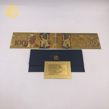 10 sztuk partia waluta Banque Du kanada pamiątkowe banknoty kanada 100 dolarów wykwintne kanada dla kolekcji pamiątek tanie tanio Z tworzywa sztucznego Antique sztuczna Tv movie postaci dayarose high quality PET 0 43mm 15 3*7cm 10pcs+1 certificate+1 envelope