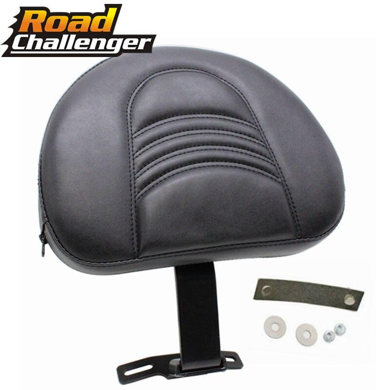 For Harley Heritage Softail Fatboy 2007-2017 2016 Black Motorcycle Backrest Adjustable Plug-In Driver Rider Backrest Pad