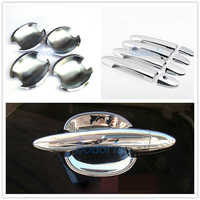 Door Handle Cover And Bowl Insert Trim For Kia Sportage 2010 2011 2012 2013 2014 2015 Chrome Car Styling Accessories