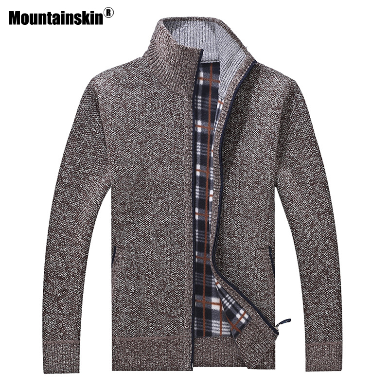 Mountainskin New Men's Sweaters Autumn Winter Warm Pullover Thick Cardigan Coats Mens Brand Clothing Male Casual Knitwear SA582 6