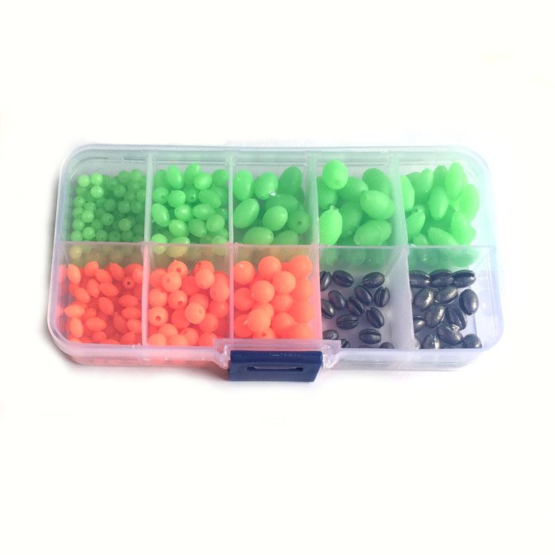 Luminous Glow Fishing Beads 3//8x5//8 50 Pieces Green