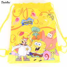 Children school bags Despicable Me Minions Kids Cartoon Drawstring Mochila Infantil For Gift Bag &duolaimi