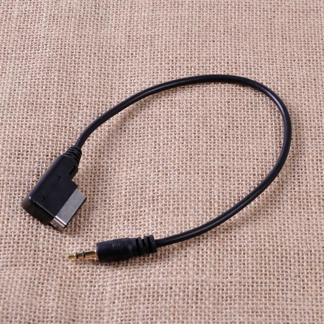 CITALL Black AMI MMI 3.5mm AUX Cable Adaptor for iPod iPhone MP3 For Audi A3 A4 A5 A6 Q3 Q5 Q7 VW Touareg Golf Jetta Passat