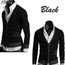 Heißer Verkauf Mode Herrenstrickwaren Strickjacke Dünne Beiläufige Mock Taschen Pullover Mantel M L XL