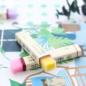 Image 4 - 30 יח\חבילה מחק רך עבור עיפרון מחקי 2B צבע פשוט F887 ציוד לבית ספר משרד מכתבים כלים borracha לילדים מתנה