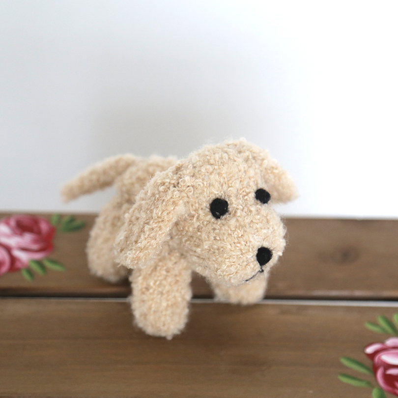 Photo Prop Puppy Knitted Stuffed Dog Toy Cute Newborn Puppy Toy Photo Props Stuffed Mini Animals Baby Photography Prop Dog Extremely Efficient In Preserving Heat