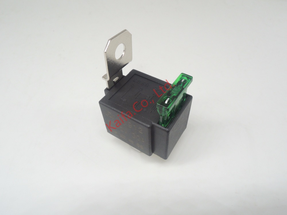 1piece4p 30a Auto Relay With Fuse  Coil Voltage 12vdc