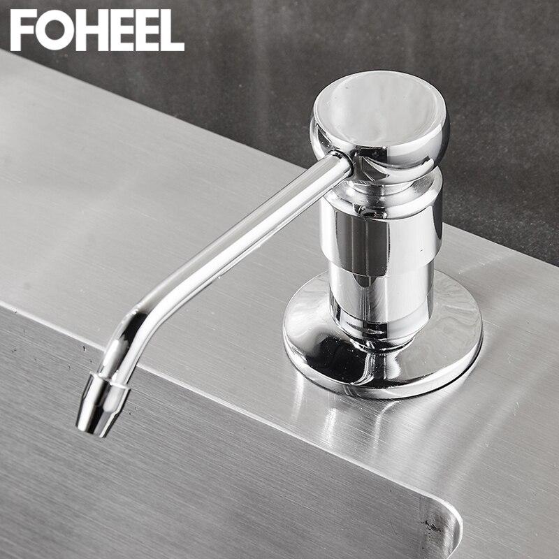 100% QualitäT Foheel Waschbecken Seife Spender Hand Waschen Flüssigkeit Seife Dispenser 250 Ml Küche Waschmittel Spender Edelstahl Seife Spender Pumpe QualitäTswaren Liquid Seifenspender