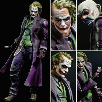 High Quality Batman The Dark Knight Bat Man Joker Bank Robber Joker Ver Heath Ledger Cartoon Toy PVC Action Figure Model Doll купить