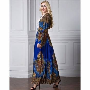 Islamic Abaya Dress Muslim Women Dress Long Sleeve Abaya Clothing Robe Kaftan Style Silk Lace 1