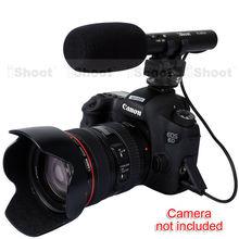 MIC DC/DV Microfone Estéreo para Canon EOS 5D Mark III/5D Mark II/7D/6D 70D/60D/760D, 750D, 700D/650D/600D/EOS-M 100D