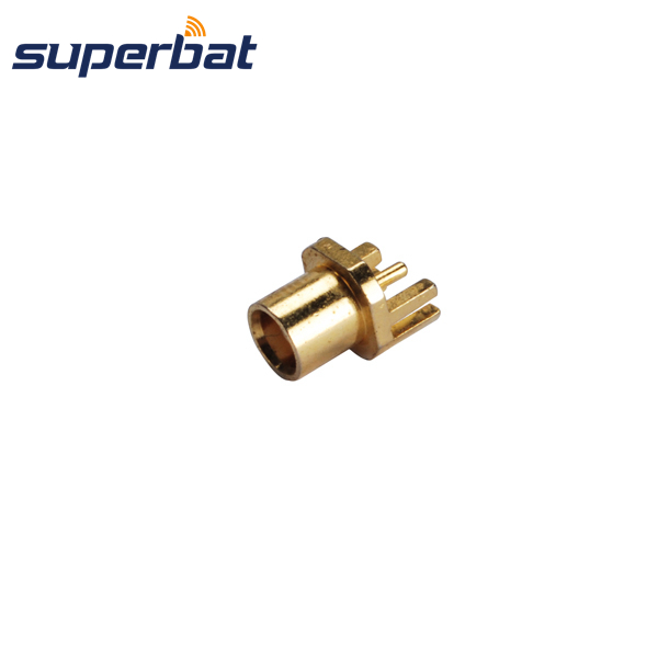 Superbat MCX End Launch Female Jack .031 PCB Mount RF Coax connector 50 Ohm