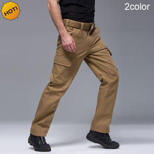 цена на High Quality Winter Outdoor Thicken TAD Multi Pocket Tactical Army Baggy Pants Men Commando Khaki Waterproof Cargo Trousers HOT