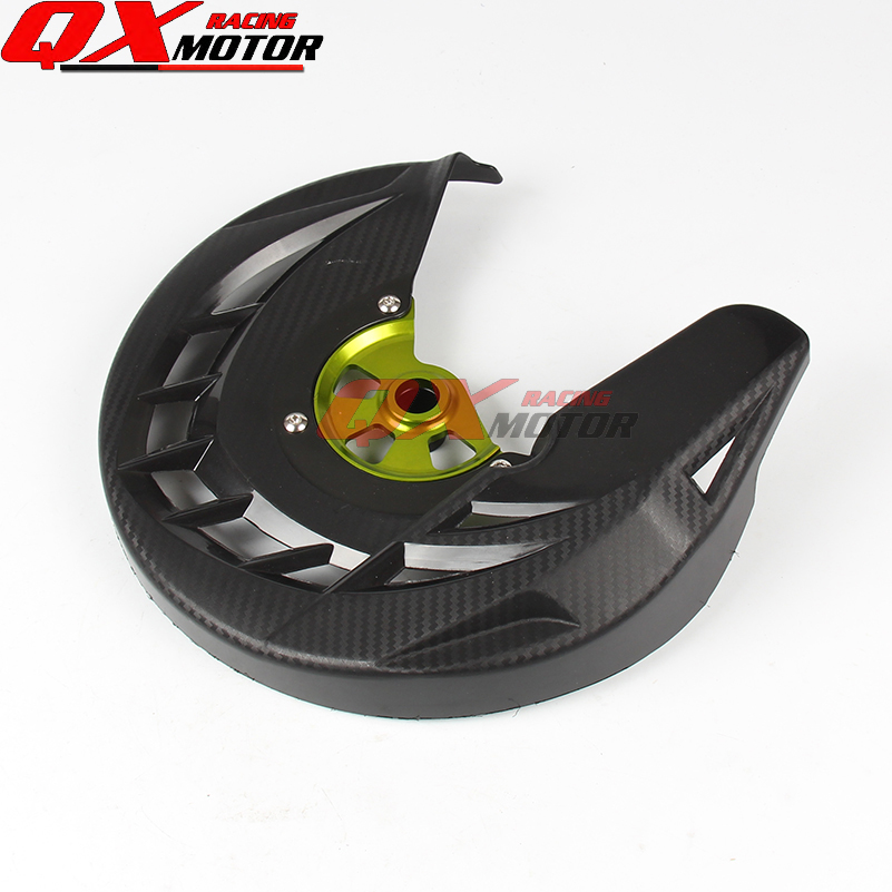 Motorcycle Plastic Front Brake Disk Protector Cover Protection Cover For KX125 KX250 06-08 KX250F KX450F 06-15 MX Motocross cover cover pl44027 06