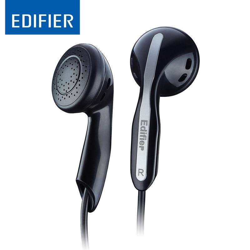 Edifier fone de ouvido h180 in-ear ruído-isolamento fones de ouvido de alta fidelidade som fone de ouvido baixo 3.5mm com microfone para ios xiaomi huawei portátil