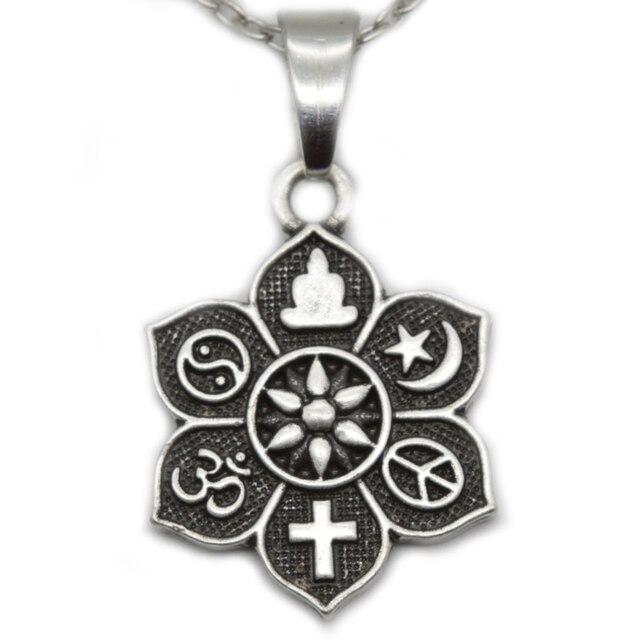 1pc coexist tibetan silver lotus yogo pendant om religious belief 1pc coexist tibetan silver lotus yogo pendant om religious belief necklace for women men fashion jewelry aloadofball Gallery