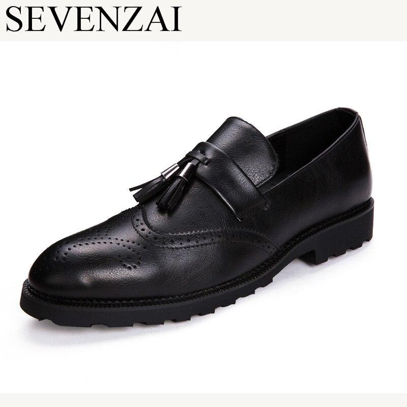nouvelle collection 65146 120f6 € 24.88 20% de réduction|Hommes gland richelieu cuir richelieu chaussures  pour hommes robe formelle chaussures hommes mocassins homme italien marque  ...