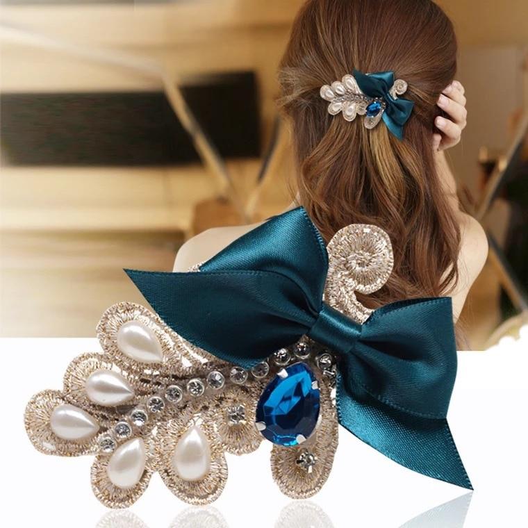 New Fashion Women Hairpins Jewellery DIY beautiful cloth headdress flower tie hair clip top jewelry