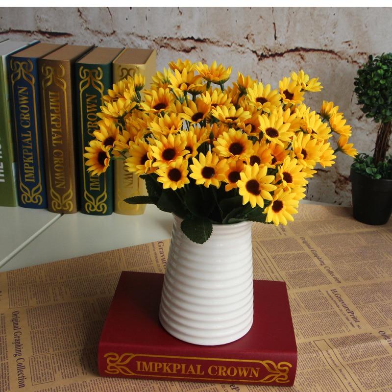Jaune arrangement de fleurs promotion achetez des jaune arrangement de fleurs promotionnels sur - Bouquet de tournesol ...
