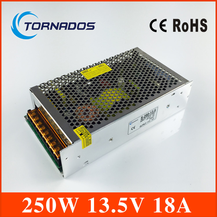 CE ROHS certification 13.5V 250w switching power supply with OEM and  ODM offered s-250-13.5  industrial LED power source ce rohs standard formaldehyde monitor with temper and rh