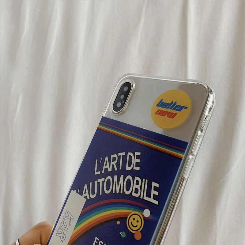Regenbogen Transparente All-inclusive Anti-tropfen Silikon Weiche Fall für iphone 6 6s 7 8 Plus XS Max XS XR