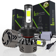 цена на VehiGo Car  LED Light H7 Bulbs 60W 6000LM 12V 24V Headlight H1 H3 H4 H7 H8 H11 9005 9006 Auto COB LED Lamp Fog Light
