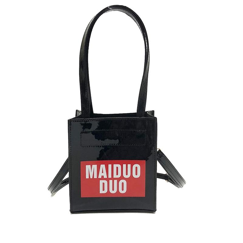 Pu Leather Bags Handbags Women Famous Brands Big Women Crossbody Bag Small Tote Designer Shoulder Bags Colorful Letters Bag