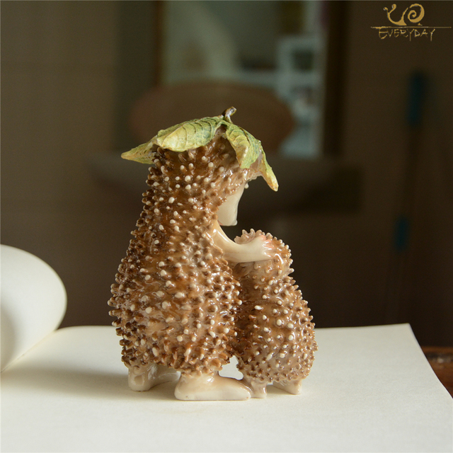 Everyday Collection Mini Fairy Garden Decoration Hedgehog Animal Figurine Ornament Tabletop Balcony Home Decor 3