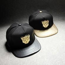 Newly hip hop Transformers black gold snake leather baseball caps one de aba reta chapeu masculino Men's Winter Hats