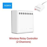 Xiaomi Mijia Aqara Two way control module Wireless Relay Controller 2 channels Work For Mijia APP Smart Home
