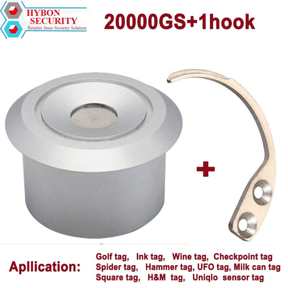 HYBON Magnetische Tag Entferner Starke Detacher Haken Key + 20000gs Quita Alarma Magnetische Sicherheit Tag Detacheur
