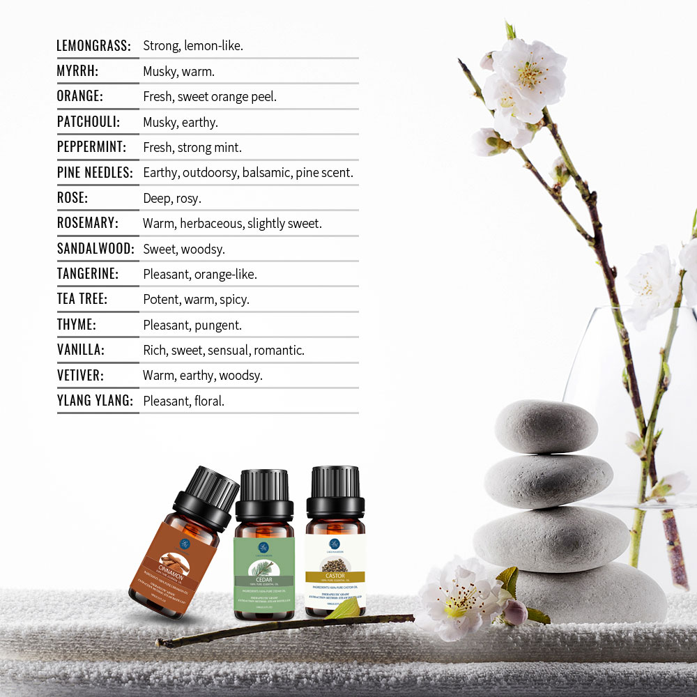 Lagunamoon Grapefruit 10ML Pure Essential Oil Massage Diffuser Aroma Orange Lemongrass Rosemary Eucalyptus Basil Oil Refreshing