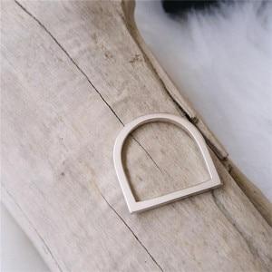 Image 5 - 100% 925 スターリングシルバーリング女性用 minimalis オフィスシンプルなデザインリングトレンディファインジュエリーアクセサリー anillos mujer