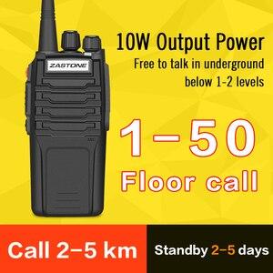 Image 5 - (2 stks) zastone Walkie Talkie A9 10 w Radio Amador UHF 400 480 mhz Handheld Transceiver CB Radio Draagbare Comunicador