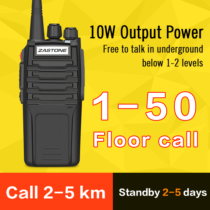 Image 5 - (2pcs)Zastone Walkie Talkie A9 10W Radio Amador UHF 400 480MHz Handheld Transceiver CB Radio Portable Comunicador-in Walkie Talkie from Cellphones & Telecommunications