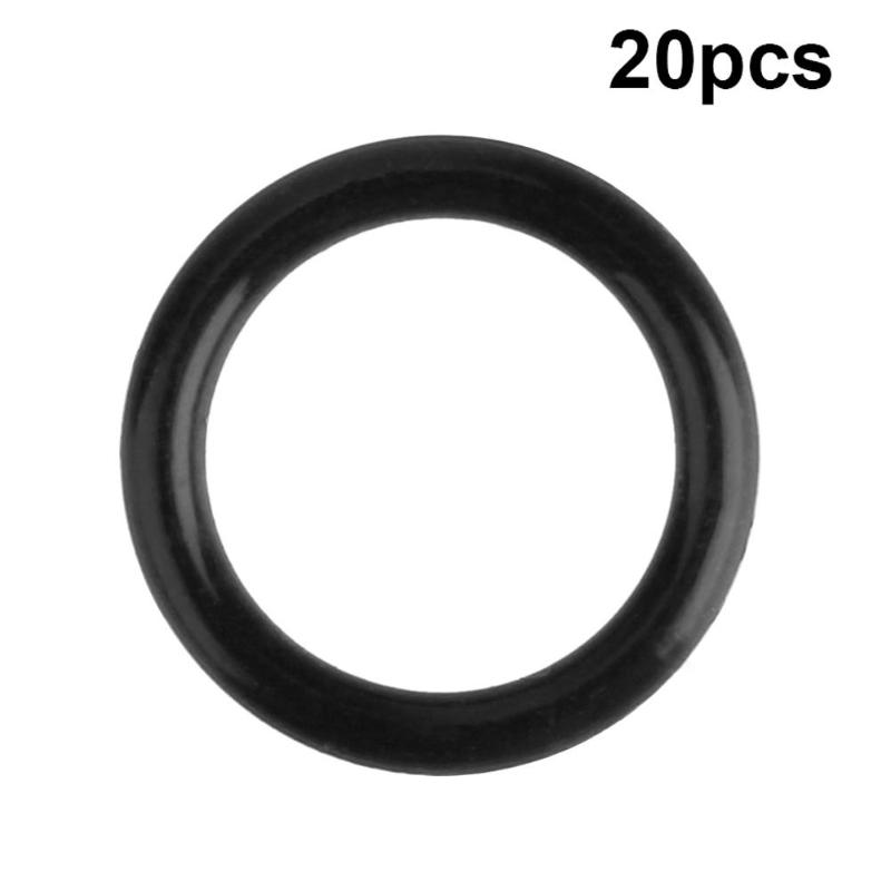 25pcs Replacement Black Engine Twin Cam Oil Drain Plug O-Ring for Harley