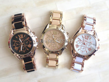 El envío libre al por mayor de Japón movimiento de cuarzo reloj de ginebra mujeres colorido hermoso reloj de pulsera relojes