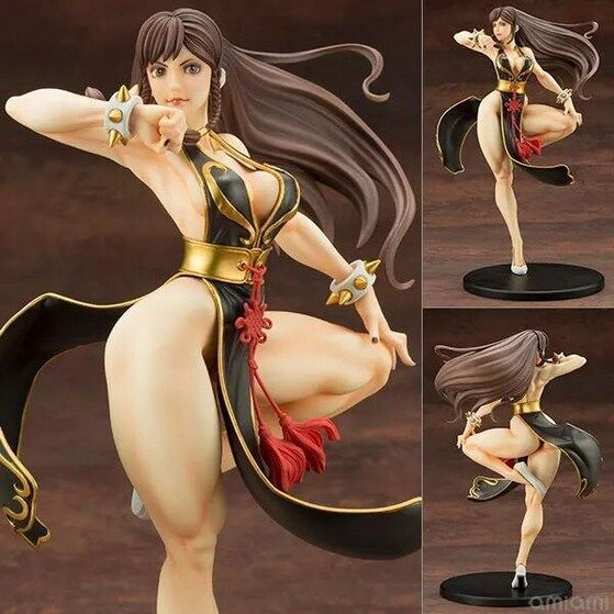 23cm Game Kotobukiya Street Fighter Chun-Li Action Figures Sexy Girl Toy Model Gift Doll