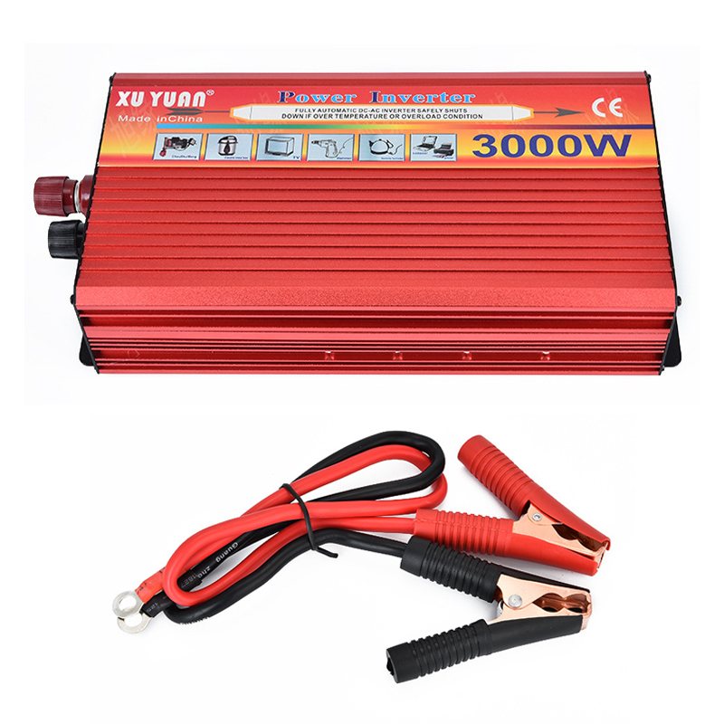 6000W Peak Portable Car Power Inverter 3000W DC 12V-to AC 220V Charger Converter  6000W Peak Portable Car Power Inverter 3000W DC 12V-to AC 220V Charger Converter