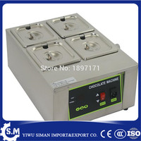 Electric chocolate melter chocolate tempering machine Houmeuse 4pots chocolate melting machine with capacity 8kg