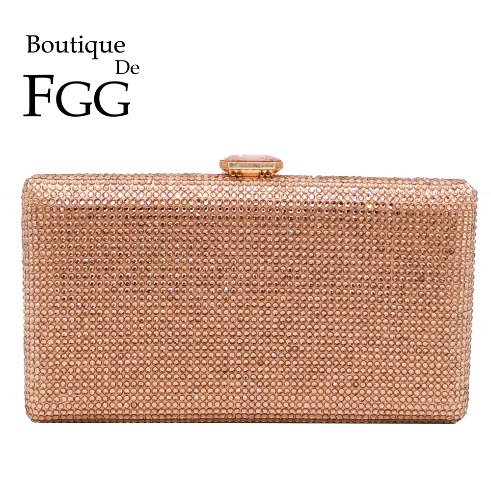Boutique De FGG Champagne Crystal Clutch Evening Bags Women Minaudiere Bag Wedding Cocktail Dinner Ladies Handbags and PursesBoutique De FGG Champagne Crystal Clutch Evening Bags Women Minaudiere Bag Wedding Cocktail Dinner Ladies Handbags and Purses