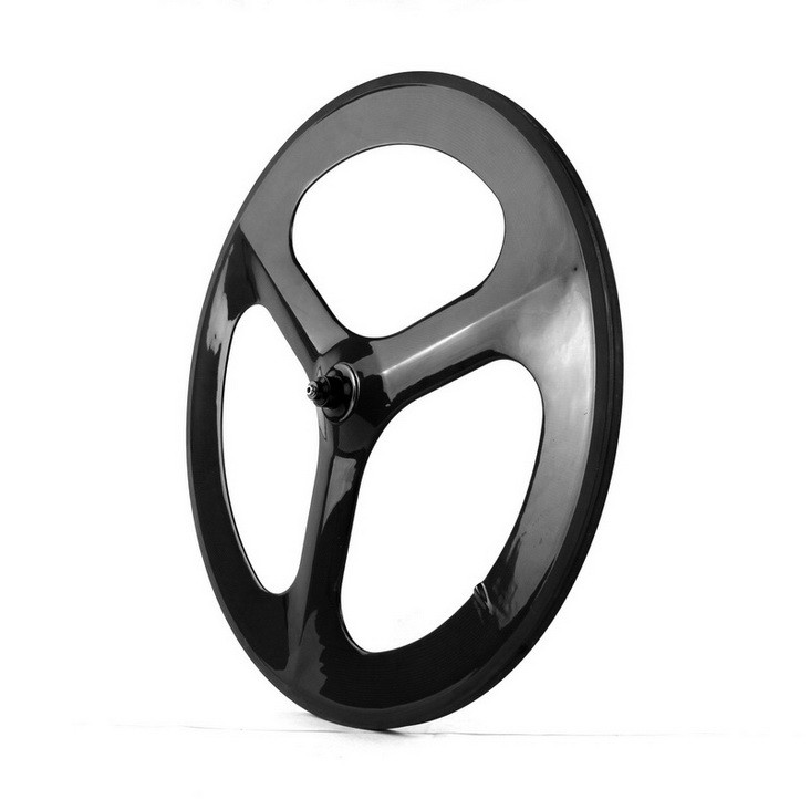 Road Bikes 700C 20.5/23mm Width Tri-spokes Carbon Wheels Clincher/Tubular for Road/Track/Time /Trial Bicycle 3-spokes Wheel Set free shipping 700c full carbon wheels 23mm width clincher tri spoke fortrack triathlon time trial road bike wheelset