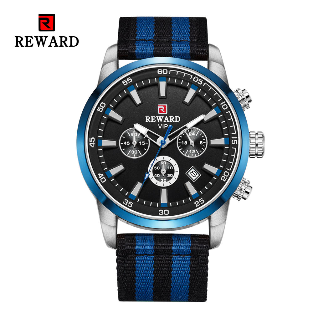 Quartz Men Watches Fashion Canvas Chronograph Watch Clock for Gentle Men Male Students Reloj Hombre free shipping 2019 (16)