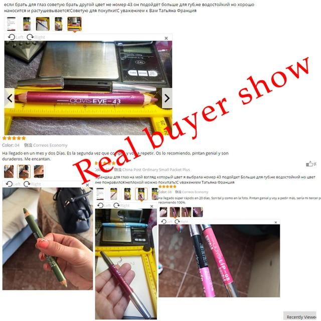 12 Colors Highlighter Glitter Eyeshadow Eyeliner Pen makeup durable Waterproof  sweatproof Double-Ended Eyes Pencil Makeup 5