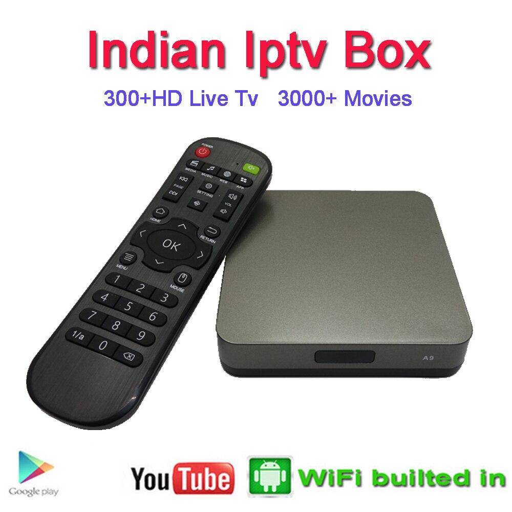 Boîte indienne IPTV support 300 + Star Plus, TV Zee, couleurs, Soni, Sun TV, Maa TV, Zee Marathi chaînes indiennes boîte de télévision