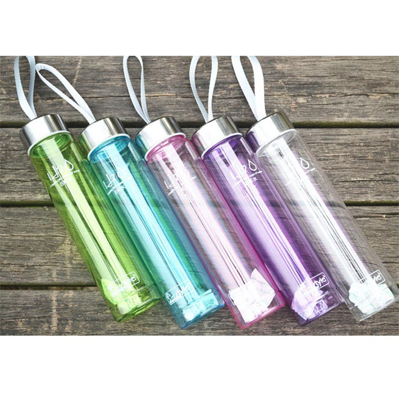 280ML Transparent Portable Bike Sports Unbreakable Plastic bicycle Water holder Bottle 2017 ciclismo camping outdoor hiking
