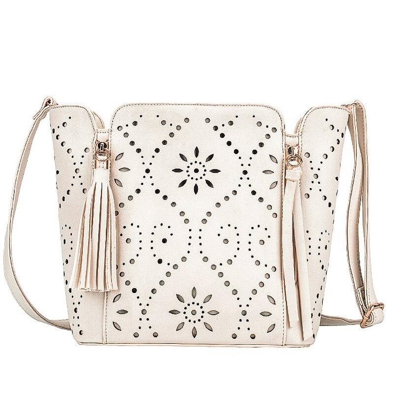 ФОТО veevanv 2016 New Fashion Pu Leather Handbag Lady Style  Messenger Bag Women Shoulder Bag Hollow Out Totem Tassel Bag
